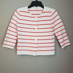 J. Crew blazer. Cotton. White/Orange stripe
